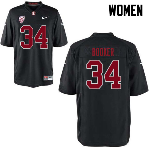 Women #34 Thomas Booker Stanford Cardinal College Football Jerseys Sale-Black